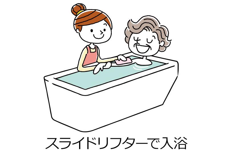 スライドリフターで入浴