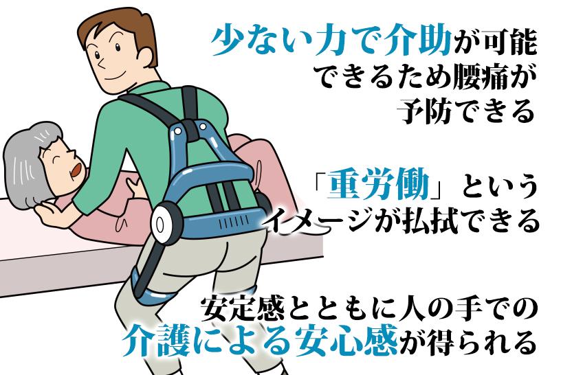 介護業務を楽にする手段として、パワーアシストスーツが有効