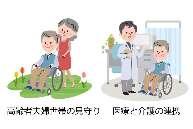 高齢者夫婦世帯の見守り 医療と介護の連携