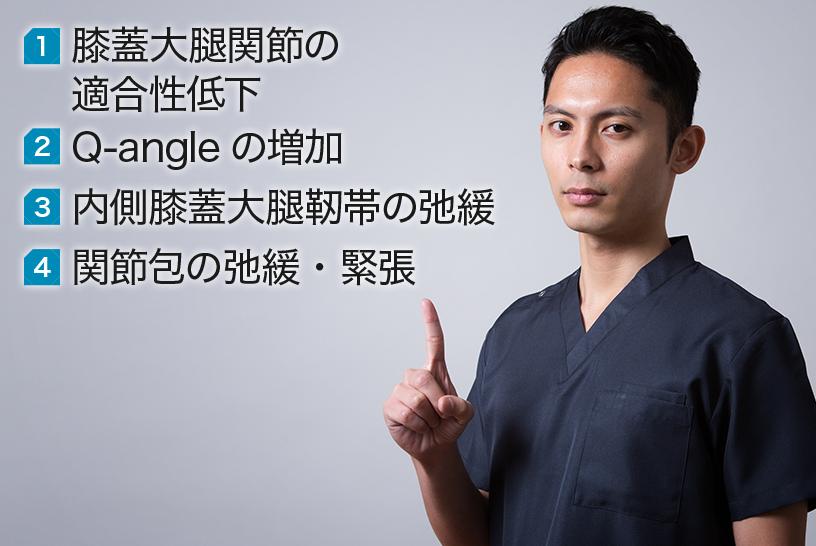 膝蓋骨脱臼の解剖学的な原因