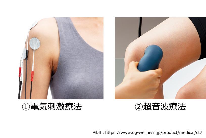 打撲や捻挫などの受傷直後の治癒には超音波や微弱電流