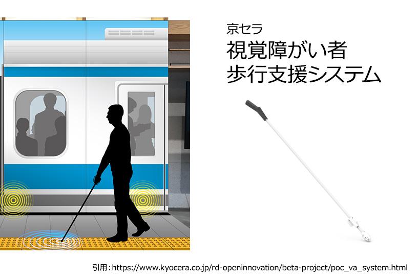 京セラ「視覚障がい者歩行支援システム」