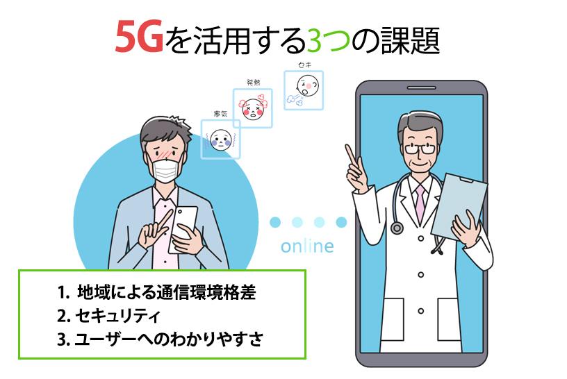 5Gを活用する3つの課題