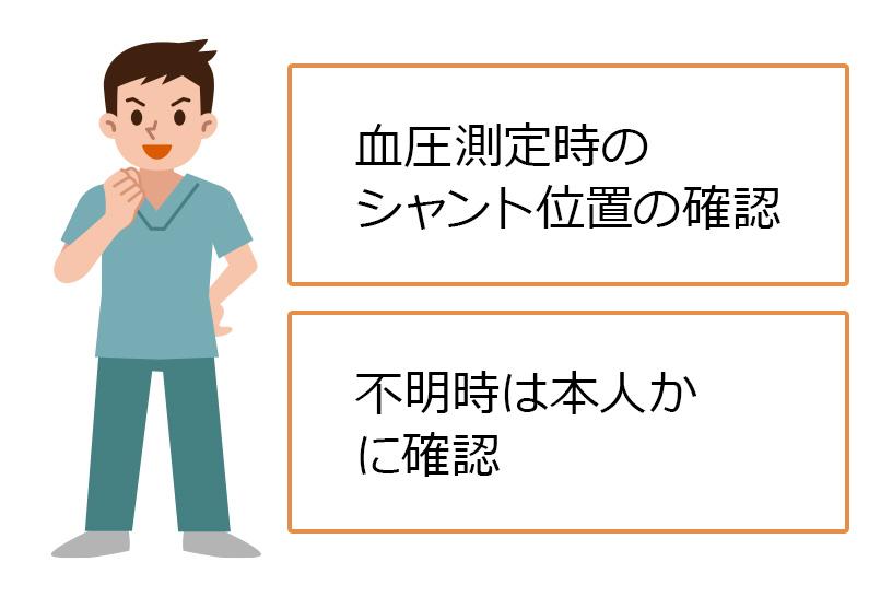 血圧測定時は要注意!シャントの位置を確認しよう