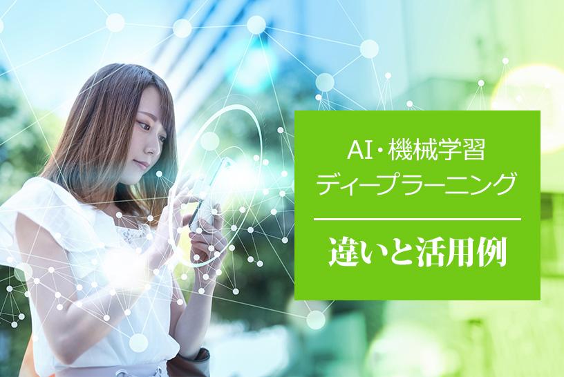 AI、機械学習、ディープラーニング 違いと活用例