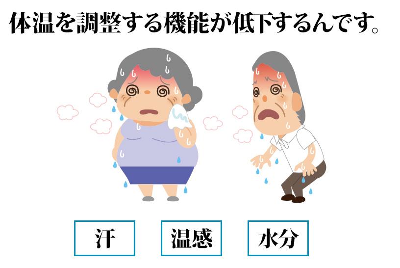 【高齢者の熱中症対策】なぜ年をとると暑さを感じにくくなるのか?