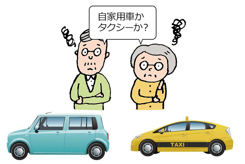 タクシーを使った場合にどれくらい費用がかかるのか