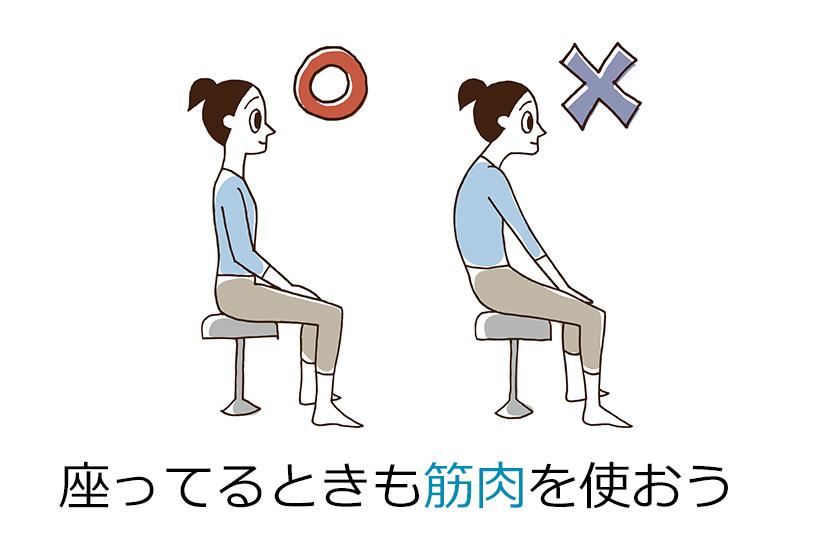 姿勢の保ち方を意識する