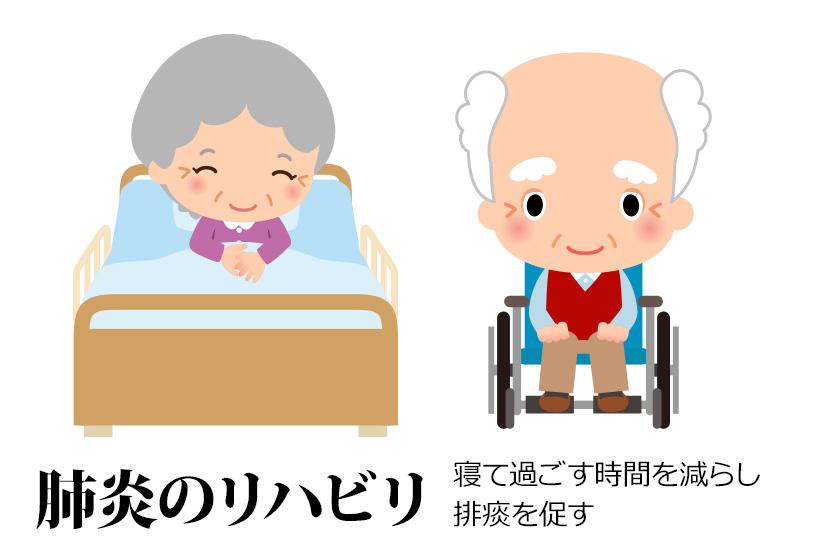高齢者の肺炎の場合、早期離床は寝たきり予防の観点からも大切