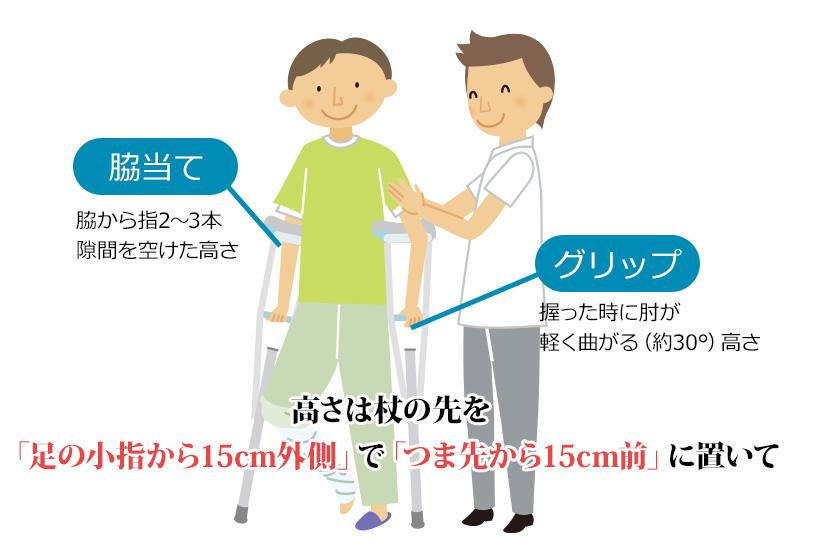 体重を脇で支えてはダメ!松葉杖の正しい高さや持ち方を紹介