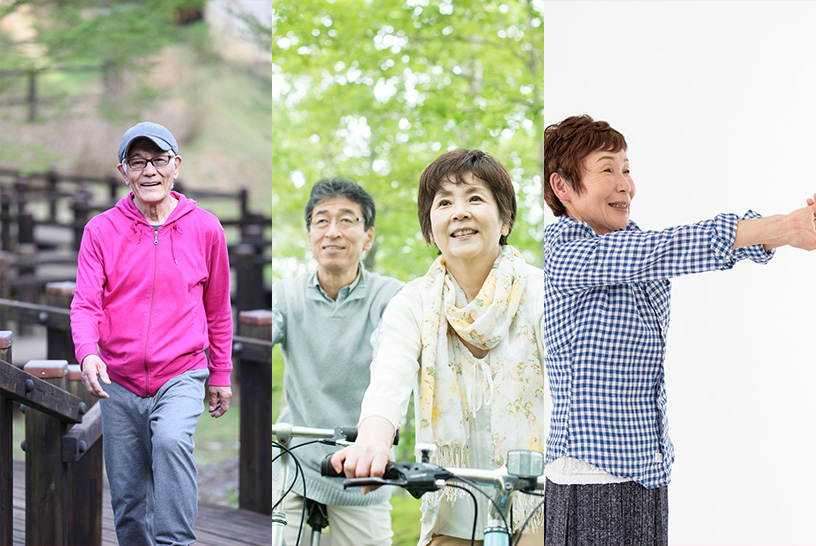 自宅で気軽に始められる老化防止エクササイズもオススメ!