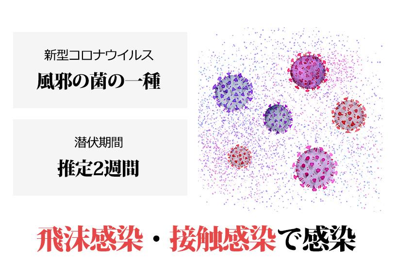 新型コロナウイルスとはどんなウイルス?潜伏期間、どのように感染する?