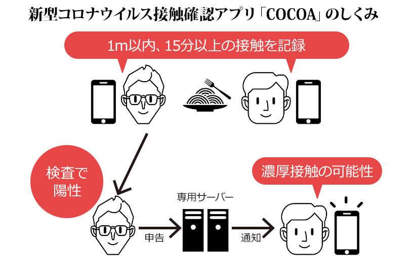 新型コロナウイルス接触確認アプリ「COCOA」