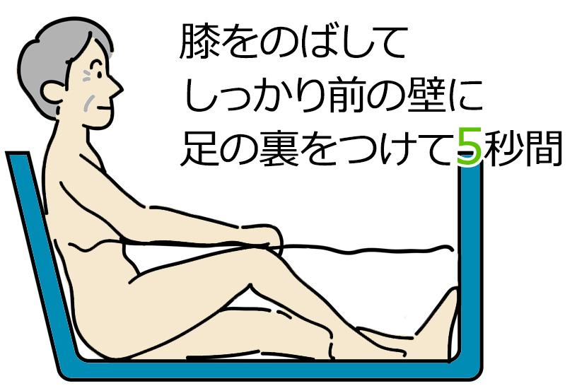 誰でも簡単にできる!お風呂でできる「ひざエクササイズ」の方法