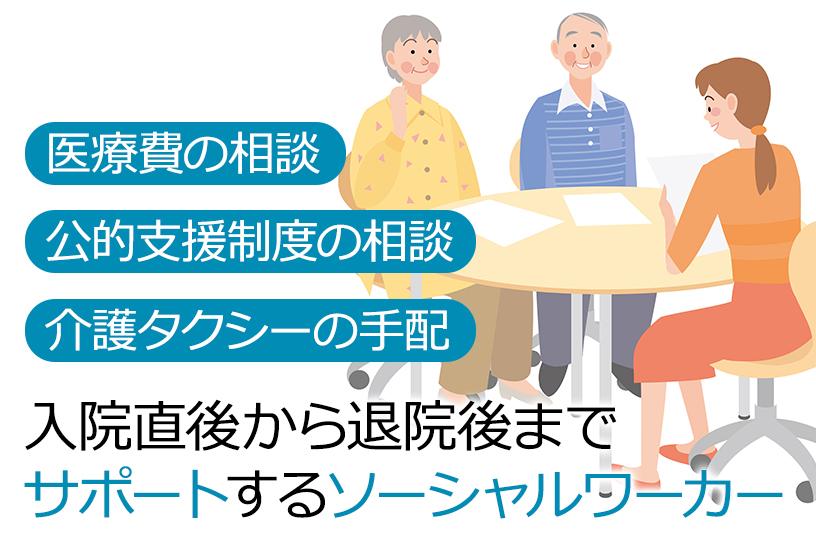 具体的な相談・患者サポートの内容(入院~退院まで)