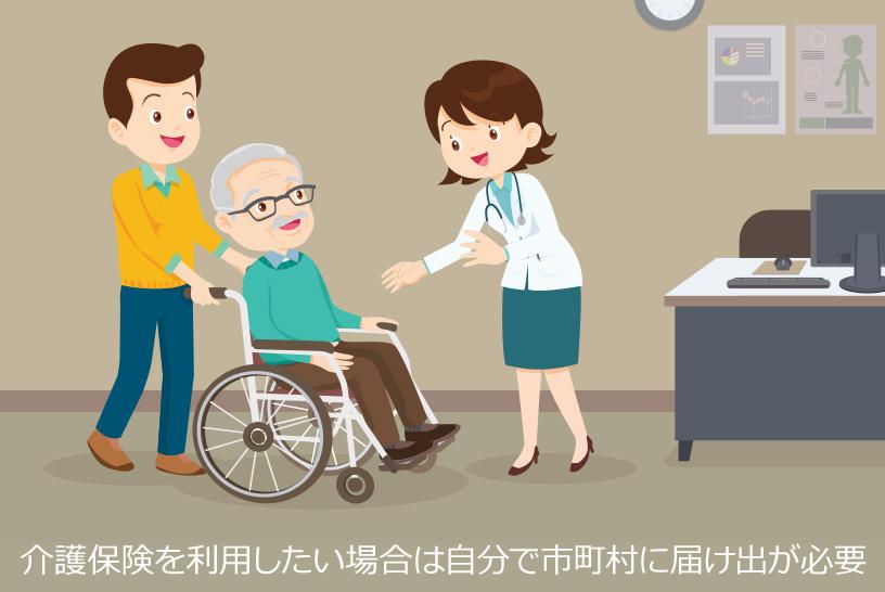 介護保険を利用したい場合は自分で市町村に届け出が必要