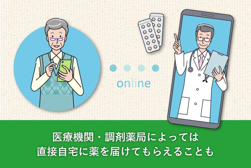 医療機関・調剤薬局によっては直接自宅に薬を届けてもらえることも