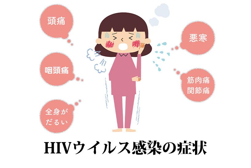 HIVウイルス感染の症状