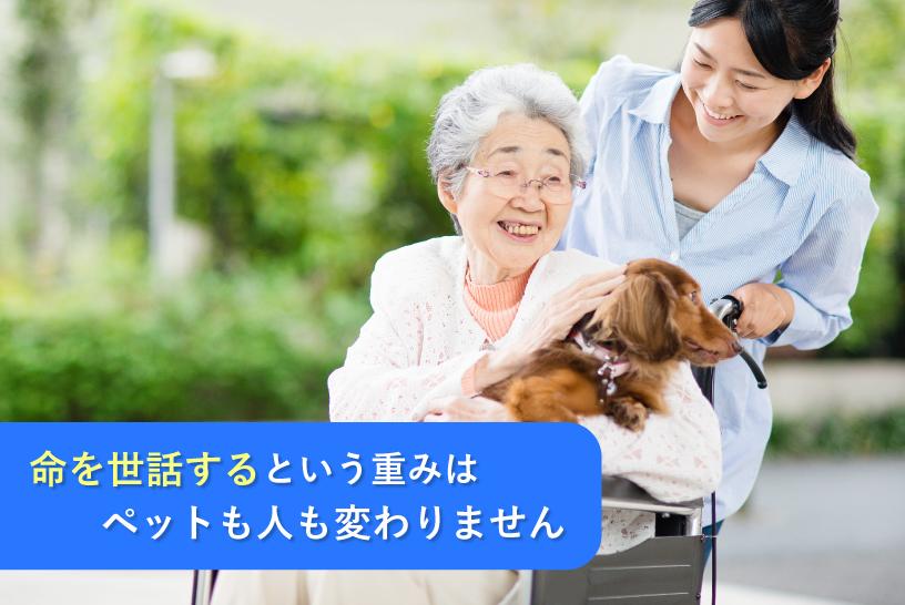 命を世話するという重みはペットも人も変わりません